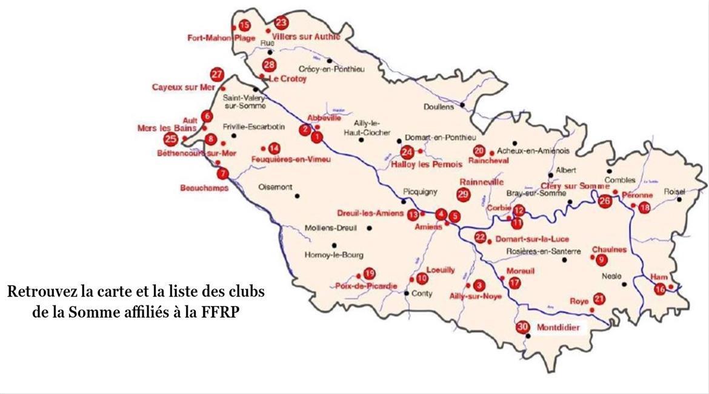 Carte des clubs de la Somme