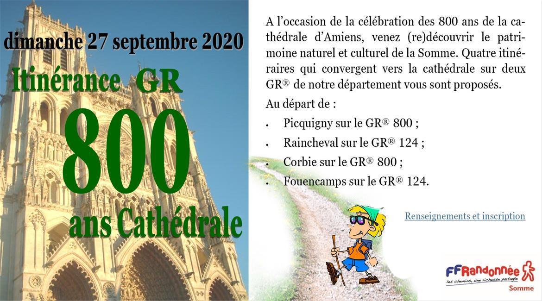 Itinérance GR800 ans Cathédrale